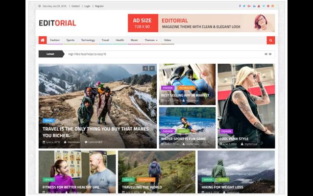 Theme WordPress: Editorial