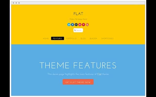 Theme WordPress: Flat