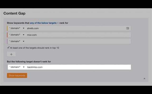 "Đặt trang web tại ""But the following target doesn't rank for"""