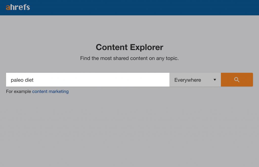 Tìm kiếm một từ khóa bất kỳ trên Content Explorer