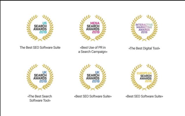 Các giải thưởng mà SEMrush nhận được