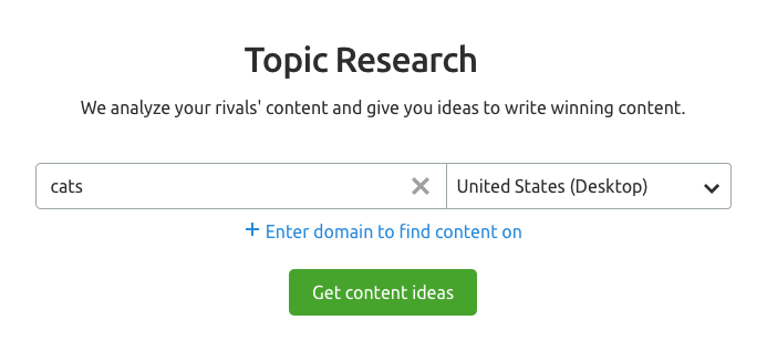 Công cụ Topic Research