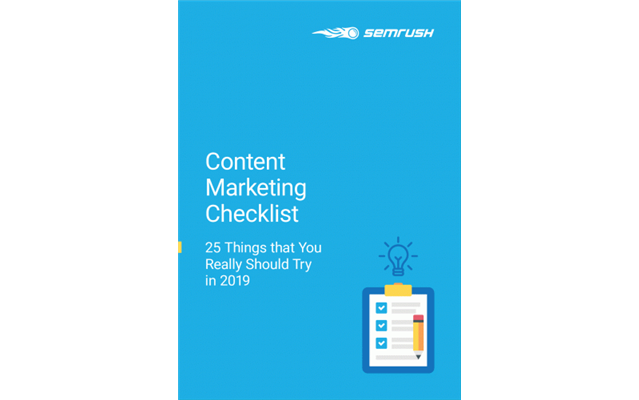 Content Marketing Checklist -  25 Things that You Really Should Try in 2019