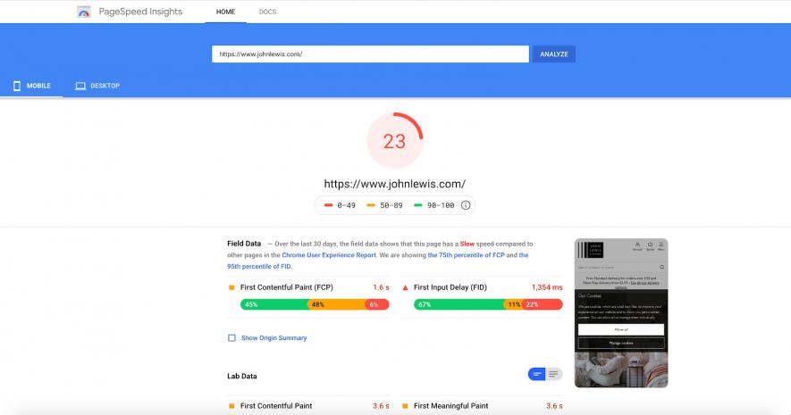 Cải thiện tốc độ trang web