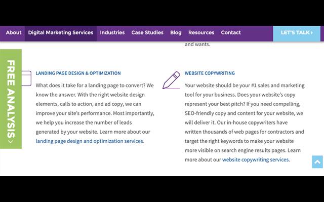 Content: Liệt kê nhiều sản phẩm hoặc dịch vụ trên một trang