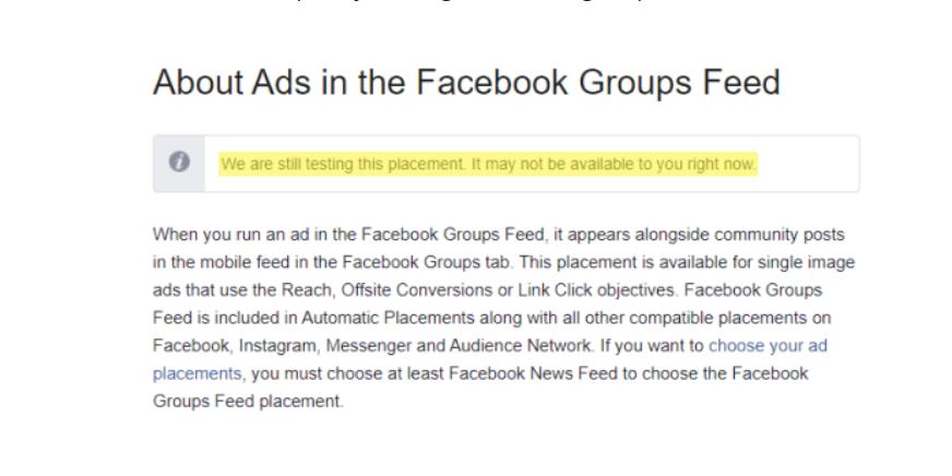 Tính năng quảng cáo trên Facebook