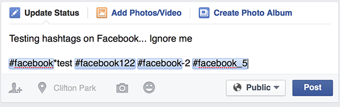 Hashtags trên Facebook