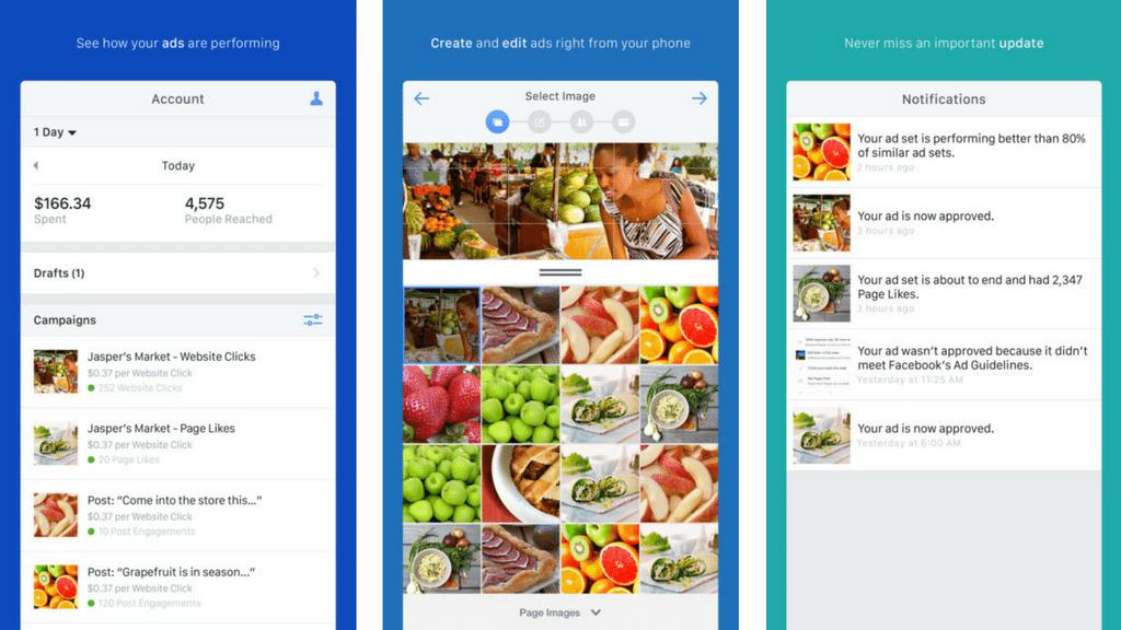 Facebook Ads Manager dành cho thiết bị di động