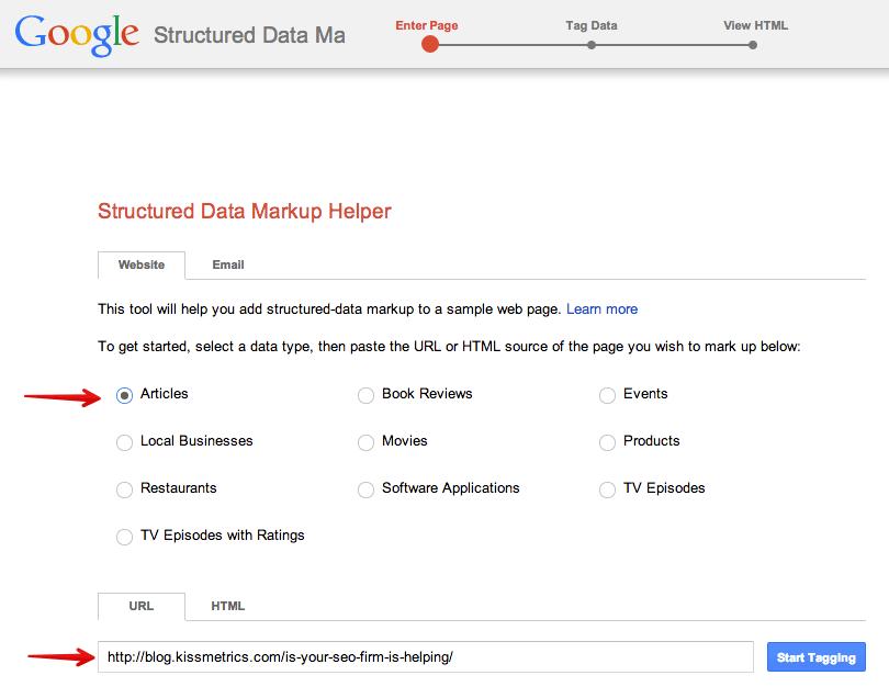 Chọn loại dữ liệu và dán URL