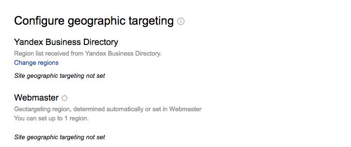 Thay đổi vùng Yandex của bạn