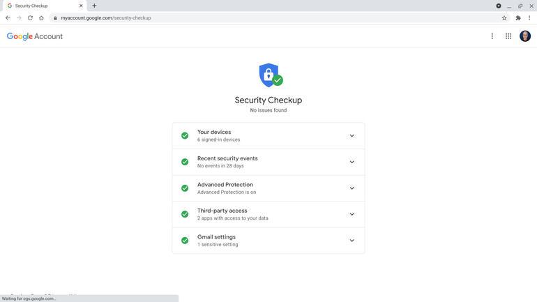 Kiểm tra bảo mật Google giúp bạn xem xét tính bảo mật tài khoản của mình theo từng bước