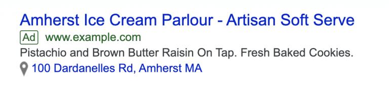 100 Dardanelles Rd, Amherst MA - địa chỉ có thể click vào.