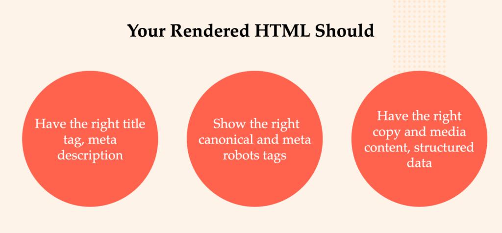 JavaScript làm được gì - Đảm bảo rằng HTML được hiển thị có tất cả thông tin chính mà bạn muốn Google đọc