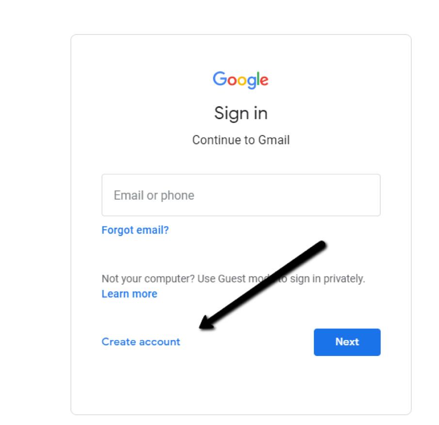 Tạo tài khoản Gmail nhanh chóng