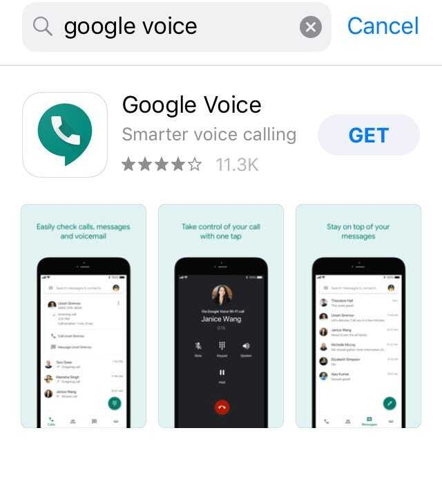 tai ung dung Google Voice tren dien thoai