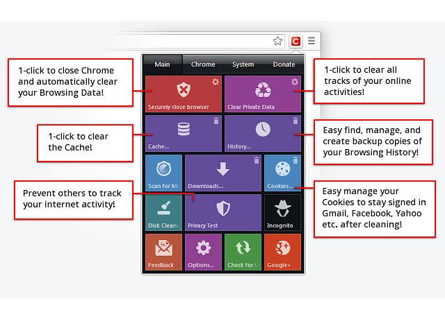 Màn hình tiện ích Click& Clean Chrome Extensions   Top On Seek