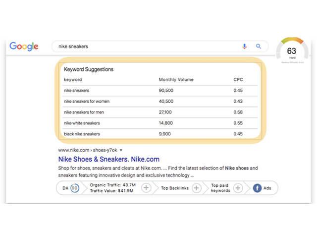 Kết quả công cụng tìm kiếm trên GrowthBar   Top On Seek