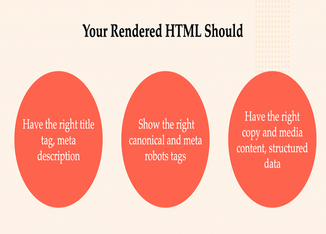 Trong SEO JavaScript, HTML phải đầy đủ thông tin mà Googlebot cần đọc và hiểu