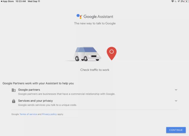 Thiết lập OK Google trên thiết bị iOS