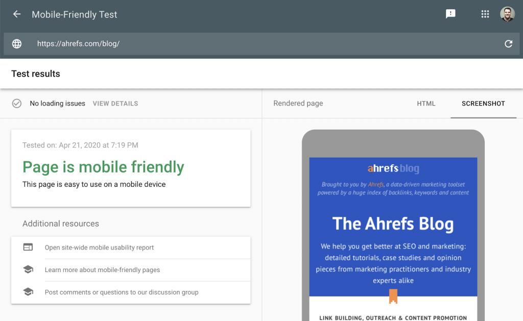 technical seo cơ bản - Google's Mobile-Friendly Test