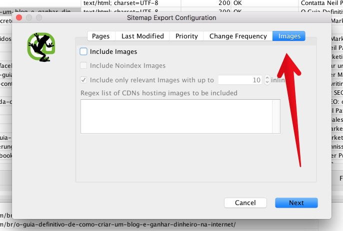 Thêm hình ảnh vào trong sitemap