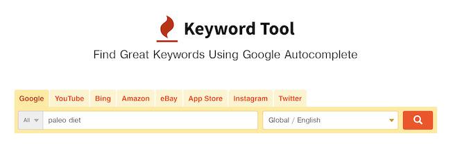 sử dụng keyword tool để tìm long tail keywords