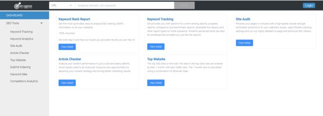 Hình ảnh giao diện chính của Keyword Tracker TopOnSeek